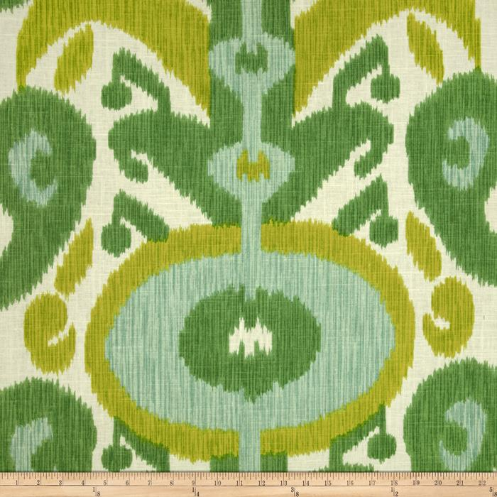 Due to the flowing lines of this ikat it could be considered a floral
