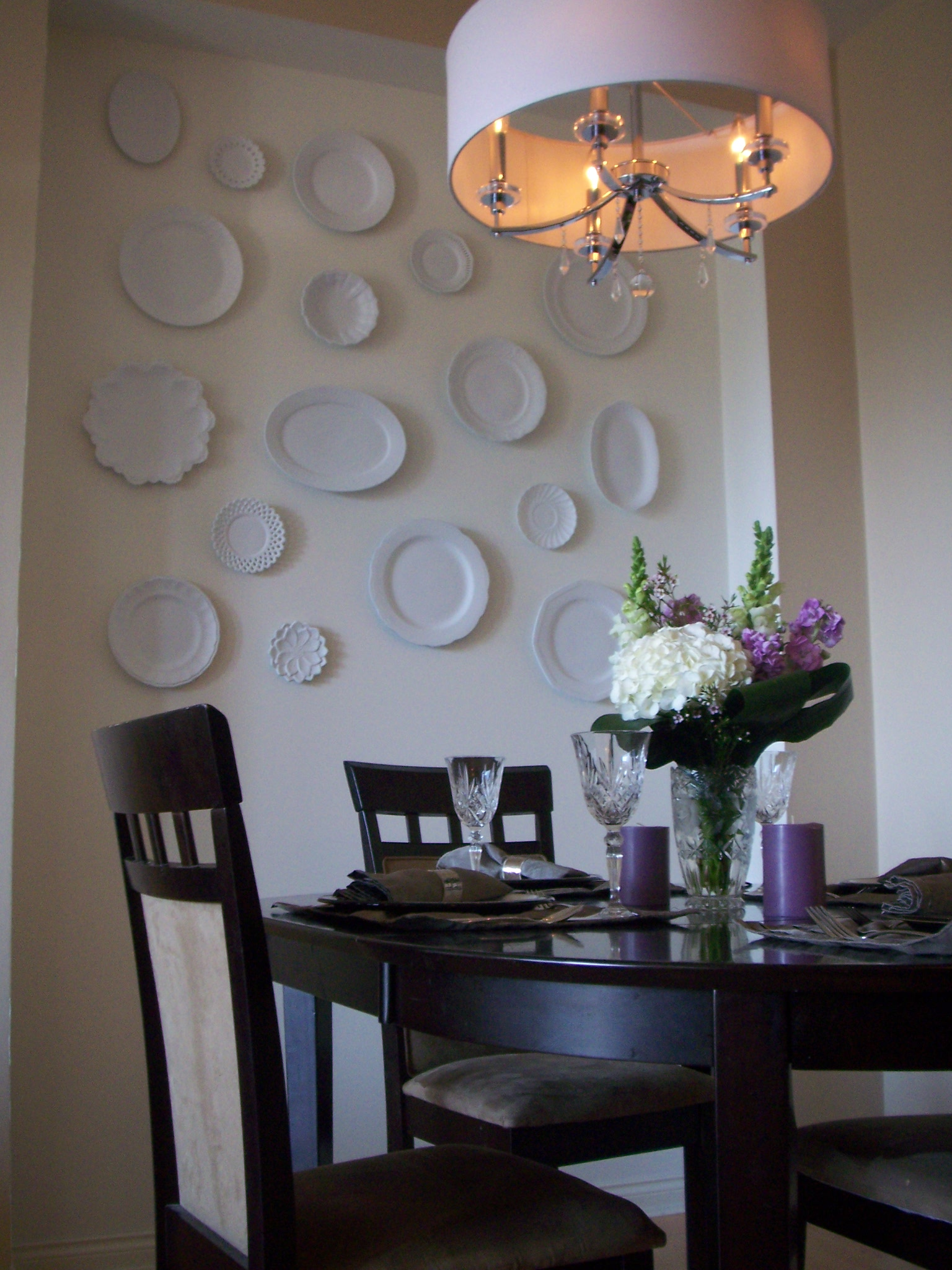 """We tried out our """"new"""" dining room on some friends for a dinner party."""