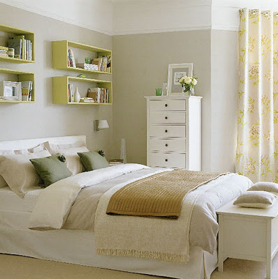 bed-headboard-unique-floating-shelves-space-storage-teen-clean-crisp-bedroom-idea-makeover-bright-yellow-green-white-diy-makeover-ikea-fun-stylish