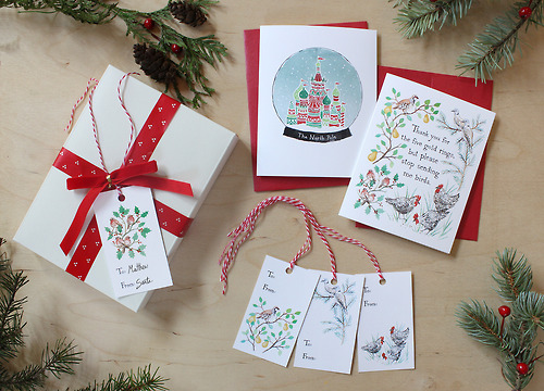 Christmas Stationary by artist Krista Gibbard.
