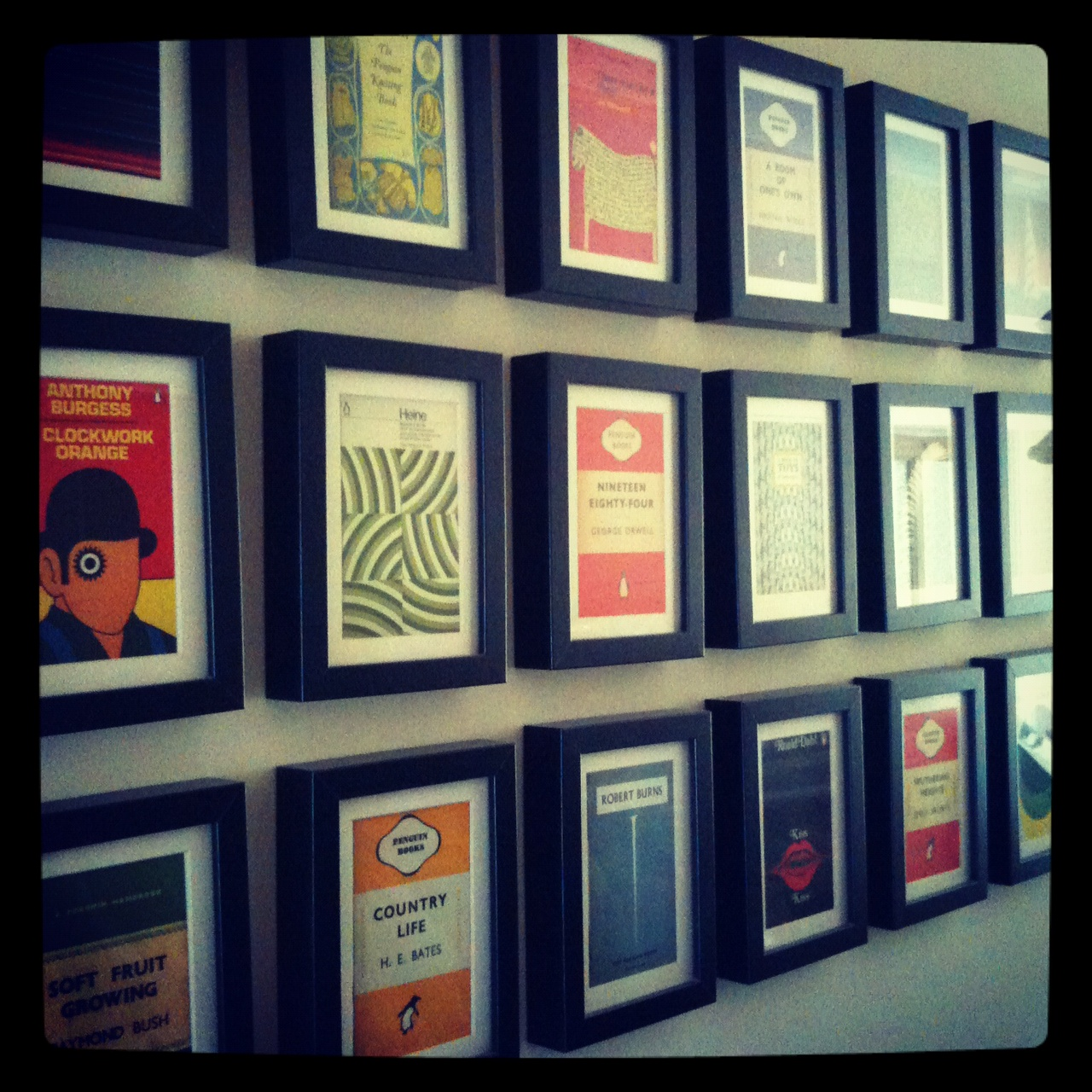 Penguin Book Cover Framed : Penguin classic postcards fabrictherapy