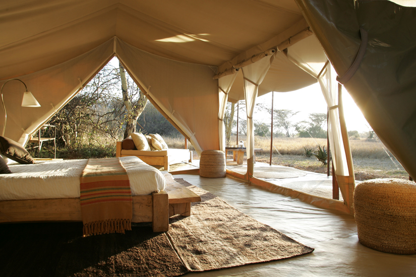 This beautiful African safari tent may not keep out the lions but it defintly oozes relaxed style.