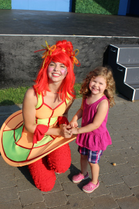 """Sofia's new dance partner. The """"princess ballerina with the red hair""""."""