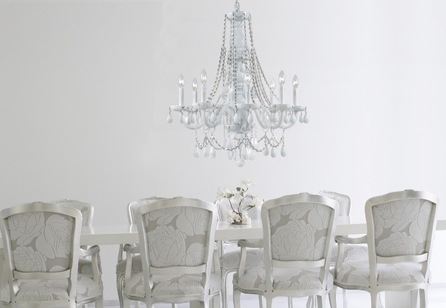 whitetraditional-dining-room